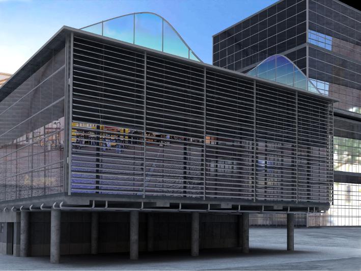 Συστήματα σκίασης σε πρόσοψη κτιρίου